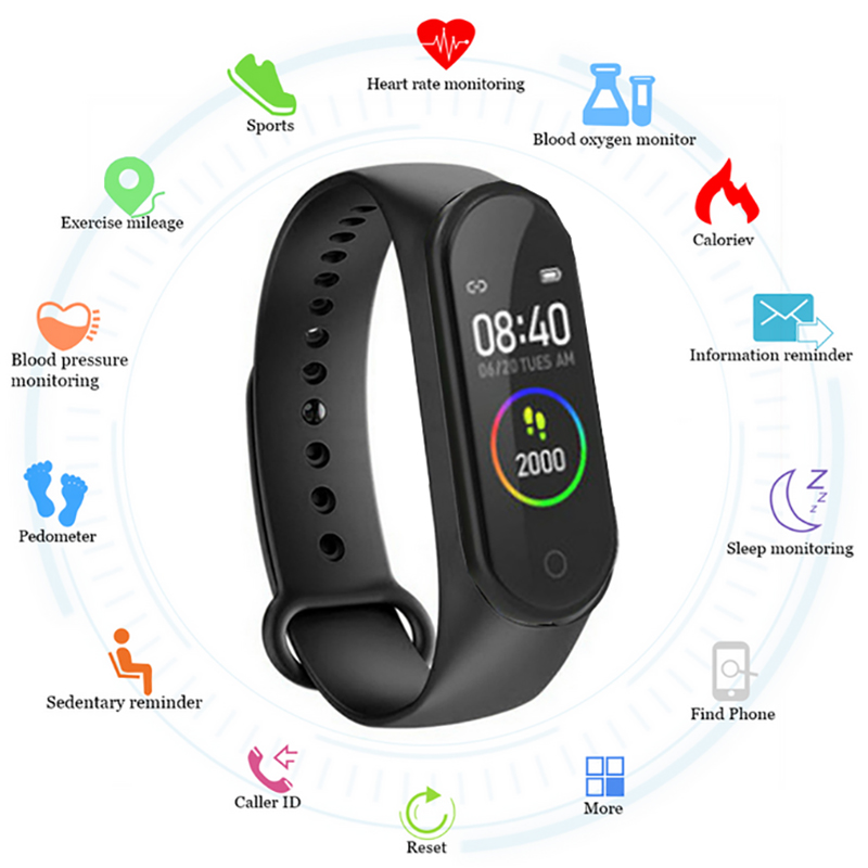 <font><b>M4</b></font> <font><b>Smart</b></font> <font><b>band</b></font> 4 Fitness Tracker Watch Sport bracelet Heart Rate Blood Pressure Smartband Monitor Health Wristband image