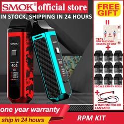 Smok vape portátil vape 1500 mah & 4.3ml rpm pod & 4.5ml rpm nord cartucho vagem vape mod 40 w kit de cigarro eletrônico