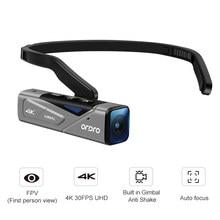 Câmera de vídeo vlog cabeça montado wearable filmadora ordro ep7 4k 60fps mini wifi fpv digital camara filmadora para youtube blogger