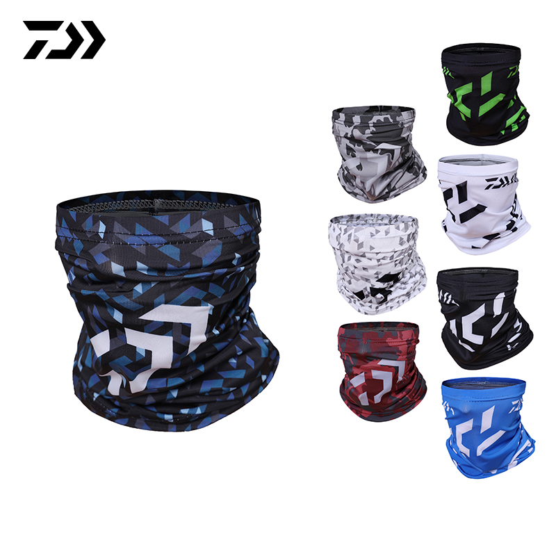 DAWA Face Mask Windproof UV Protection Buffe Bandana Headwear Fishing Headband Fishing Hijab Head Scarf Daiwa Clothing