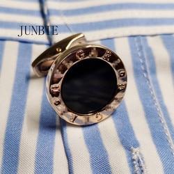 JUNBIE роскошные запонки для рубашек для мужчин брендовые запонки на пуговицах Запонки Высокое качество круглые свадебные ювелирные изделия ...