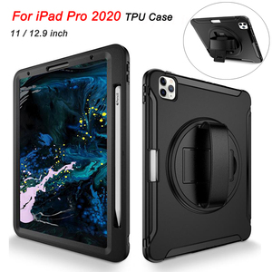 For iPad Pro 12 9 / 11 Case 2020 TPU Hard PC 3 Layer Shockproof Anti-fall Tablet Case For iPad Pro 12.9 Case with Pencil Holder(China)