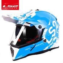 Ls2 mx436 capacete de motocicleta, original de 100%, off road, com protetor solar, ls2, pioneer, moto, cruz, lente dupla, ece aprovação