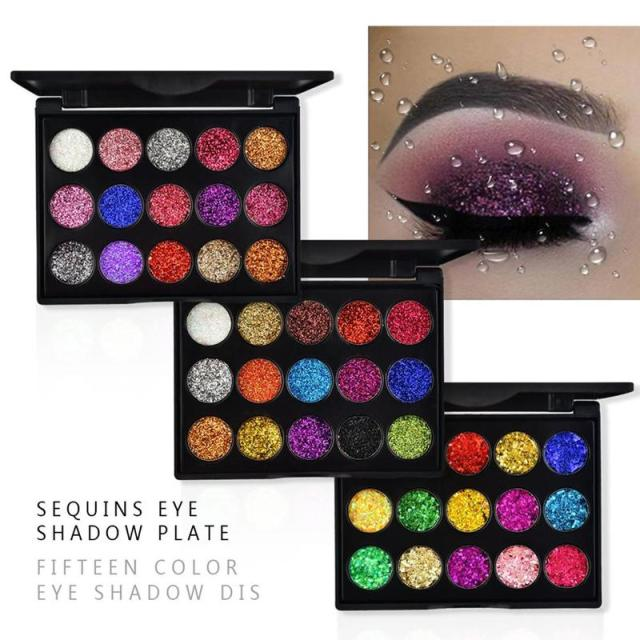 15 Colors Glitter Eyeshadow Makeup Pallete Matte Eye Shadow Palette Shine Diamond Eyeshadow Powder Pigment Kit 4