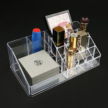Multi-functional desktop nail polish lipstick collection display shelf makeup storage box transparent box lip paste perfume rack(China)