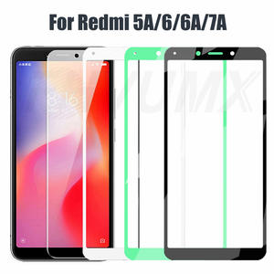 9D Full Cover Tempered Glass For Xiaomi Redmi 6 6A Anti-Burst Screen Protector On the Redmi 5A 6A 7A Glass Protective Film Case