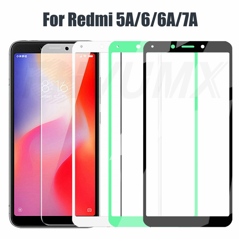 9D Full Cover Tempered Glass For Xiaomi Redmi 6 6A Anti-Burst Screen Protector On the Redmi 5A 6A 7A Glass Protective Film Case(China)