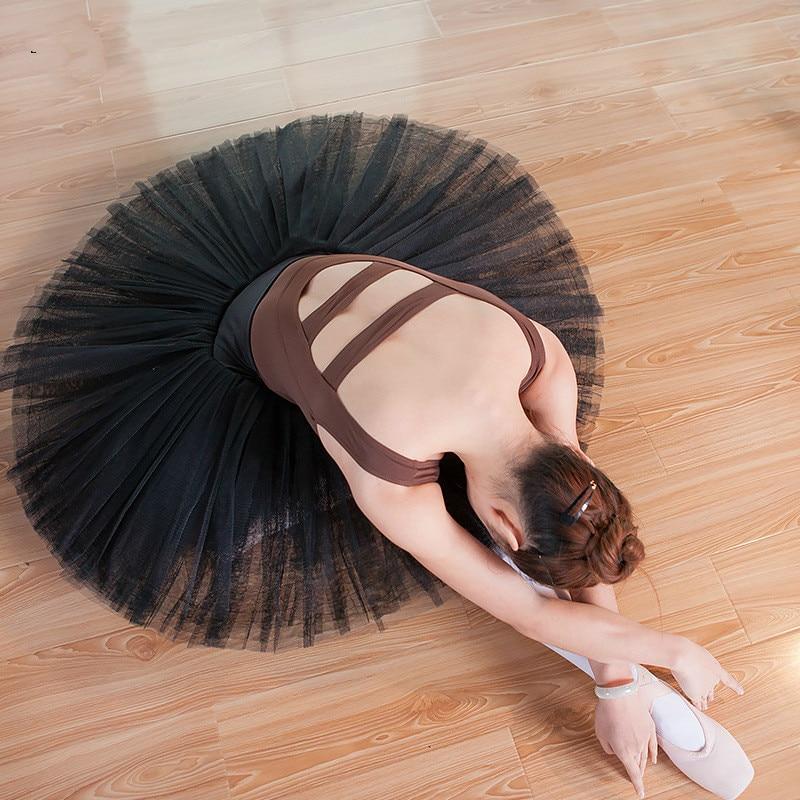Professional Girls Adults Ladies Organdy Ballet Tutu Skirts Black White Red Swan Dance Dance TUTU Skirts