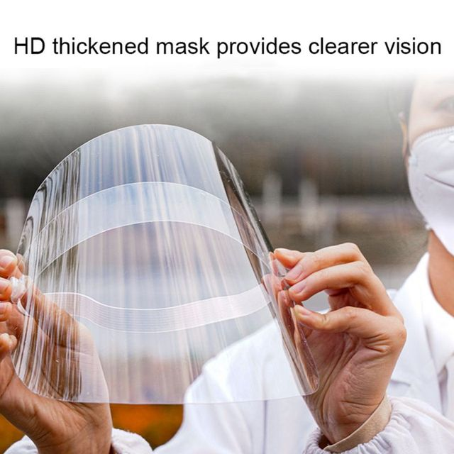 2020 Spring  Transparent Mask Protective Face Shield Transparent PVC Anti-fog Saliva And Anti-BACTERIA Protection 3