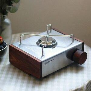Thous Winds KOVEA CUBE Gas stoveDIY black walnut side plate brass knob accessory storage bag