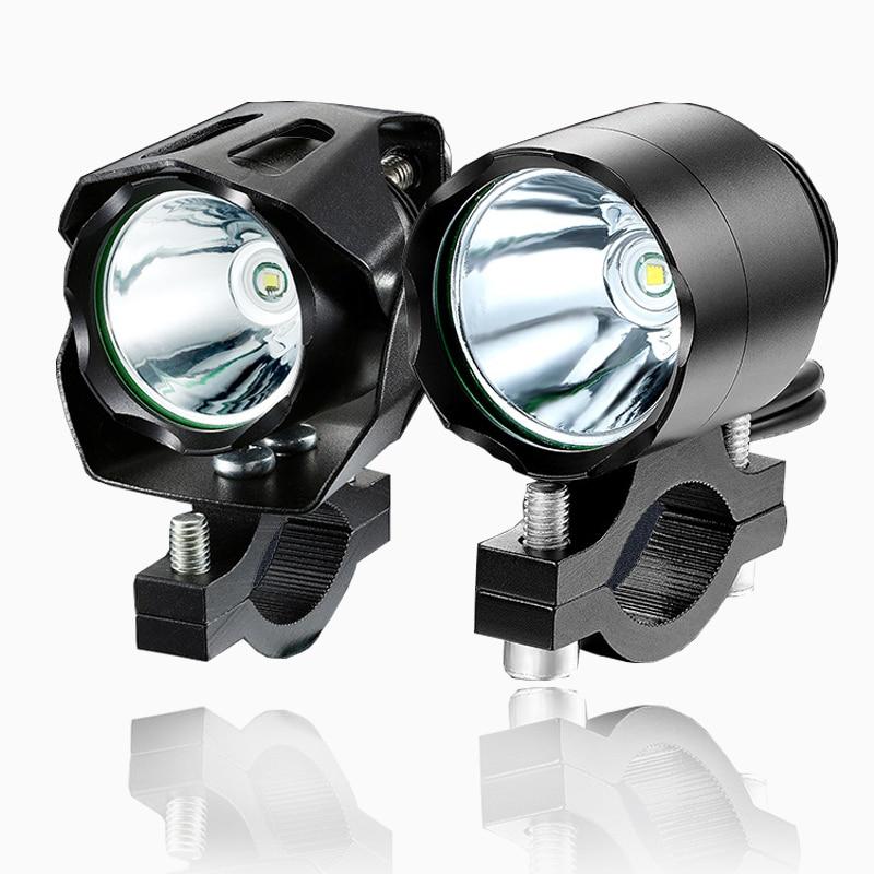 Led Lights Motorcycle 12v Spotlights 10W Fog Driving Lights Motorbike Scooter Bike Mini Headlights Waterproof