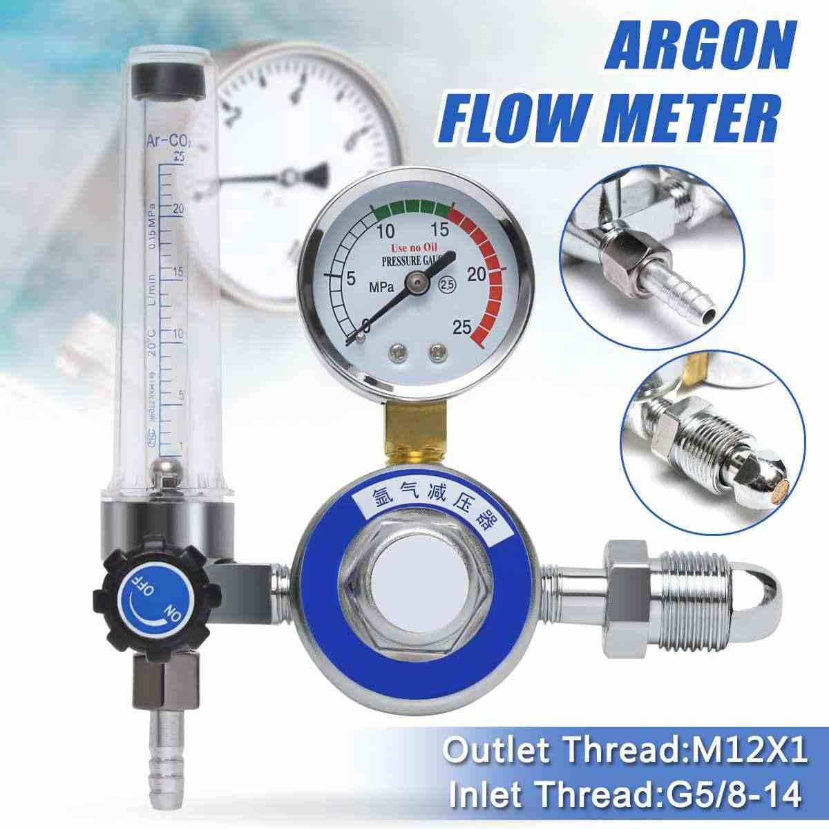 CO2 Gas Regulator Flowmeter Welding Gauge Welder Pressure Reducer G5//8