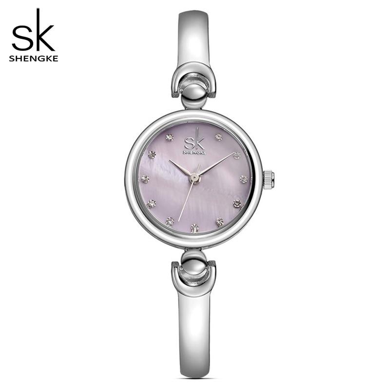 Shengke Reloj Mujer Fashion Bracelet Wristwatches Brand Female Geneva Quartz Watch Clock Waterproof Girls Gift Wristwatch 2017