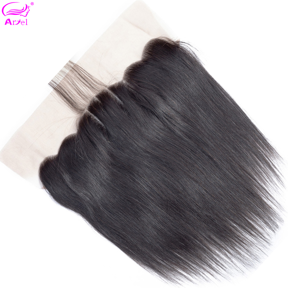 Closure Frontal Human-Hair Swiss 20inch Non-Remy Straight 134 Ear-To-Ear