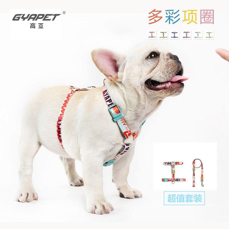 Gyapet Pet Traction Rope Proof Punch Dog Cat Pendant I-shaped Chest And Back Medium-sized Outdoor Dog Hot Selling