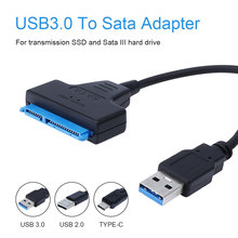 Adapter Cable Hard-Drive External Ssd SATA 6-Gbps Support Usb-3.0 for HDD 22-Pin To
