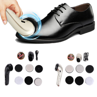Multifunctional Electric Shoe Polisher Kit Handheld Shoe Cleaning Brush Set Machine Shoe Cream for Leather Care