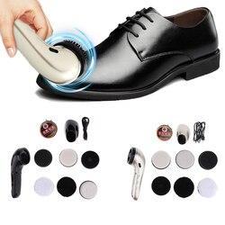 Multifunktionale Elektrische Schuh Polierer Kit Handheld Schuh Reinigung Pinsel Set Maschine Schuh Creme für Leder Pflege