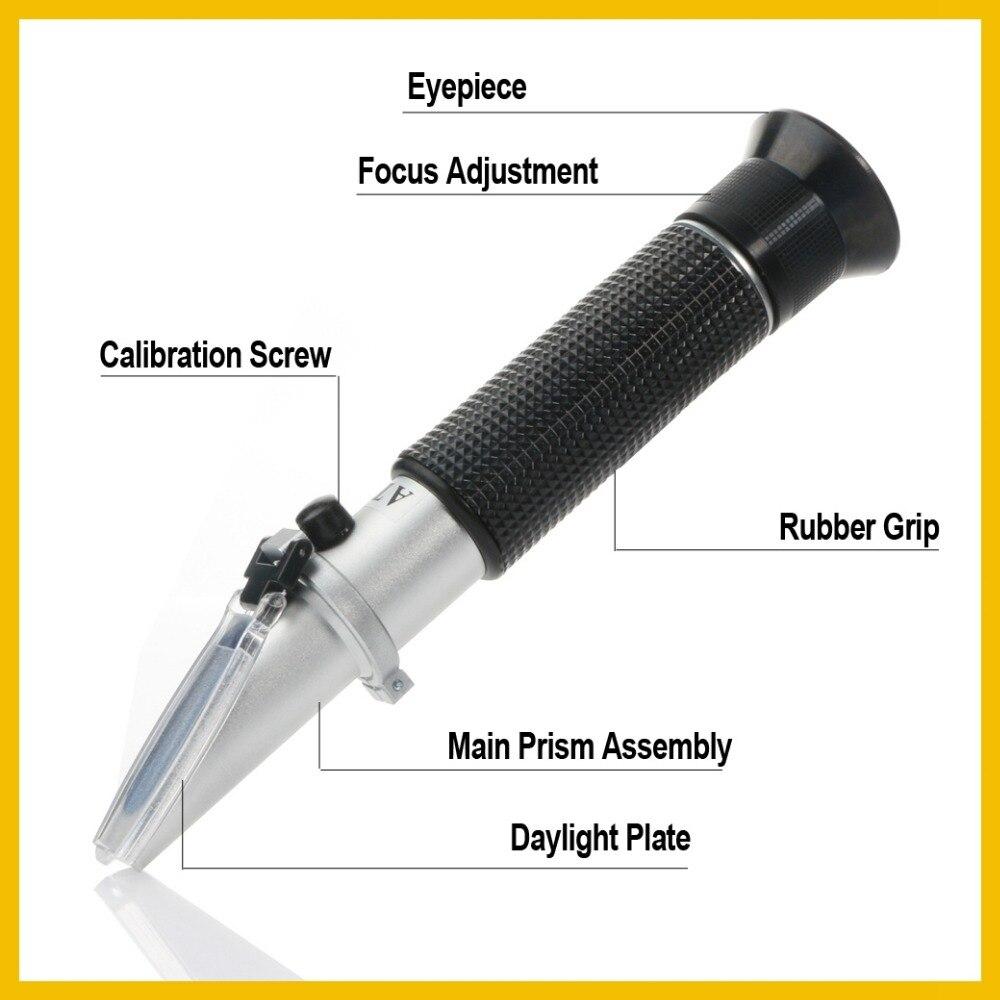 RZ réfractomètre alcool alcoomètre mètre 0 ~ 80% V/V ATC outil portable hydromètre concentration spiritueux testeur réfractomètre