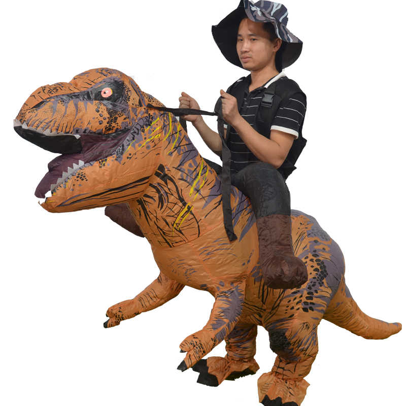 Adult Inflatable Dinosaur Xmas T-Rex Costume Suit Party Ride Velociraptor Outfit