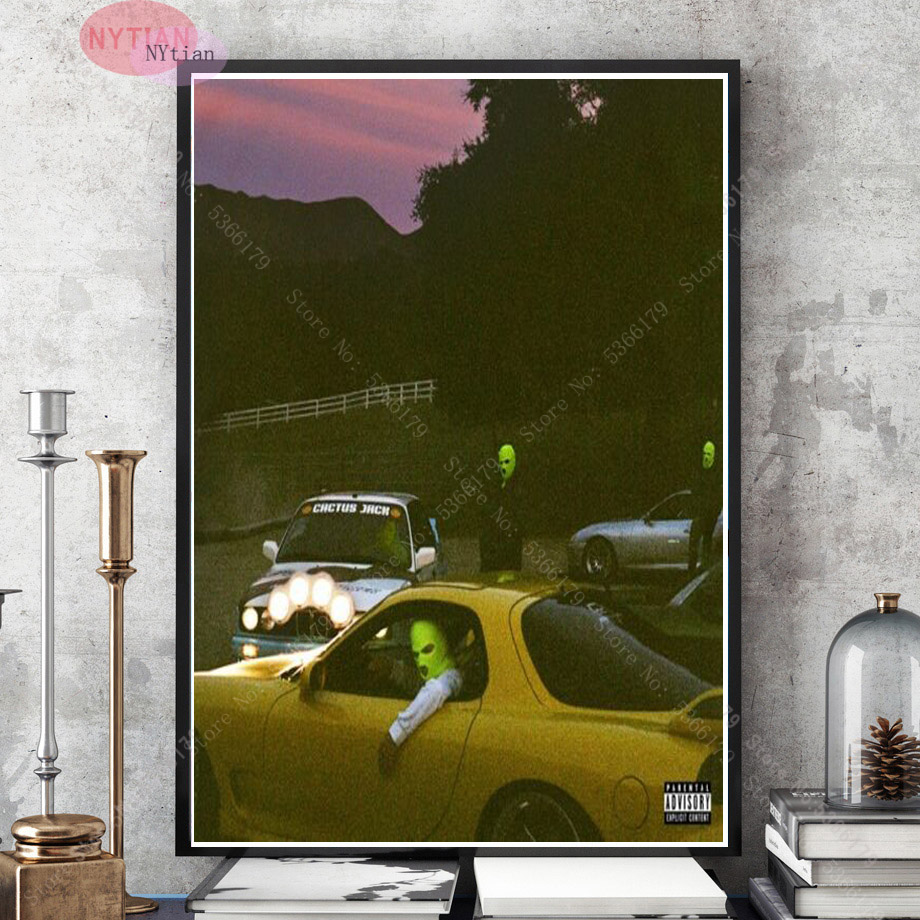 Gift Jackboys /& Travis Scott Cover 2019 Rap Music Album Nueva pintura Poster Print Canvas Wall Picture For Home Room Decor 60x80cm Sin marco