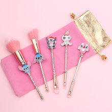 Cartoon Stitch Pop Modellering Make-Up Kwasten Set Rond De Gift Star Trek Baby Vrouwen Make Up Kerst Cadeau Voor Meisje basic Kit