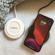 Samsung Wireless Charger adapter 5V2A QI pad For Galaxy S7 S6 EDGE S8 S9 S10 Plus Note 4 5 X XS XR mi 9 Original Adapter Charger(China)
