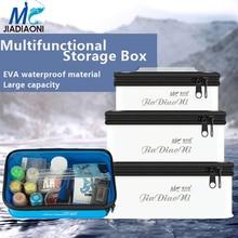 JIADIAONI Multi-Function Storage Box Large Capacity Fishing Waterproof Wear-Resistant Accessories Box Tool Box Fishing Tackle