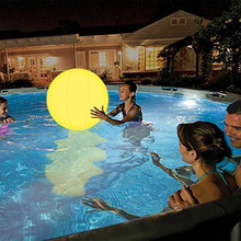 Swimming Pool Toy 13 Colors Glowing Ball Inflatable LED Glowing Beach Ball Water Play Equipment Entertainment dropshipping