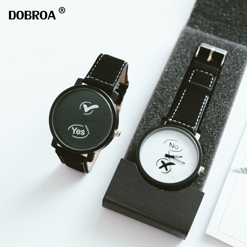 Couple Watch Boys And Girls Hot Gifts YES NO Ins Watch Simple Trend Creative Sports Quartz Clock Ladies Casual Dress Wristwatch