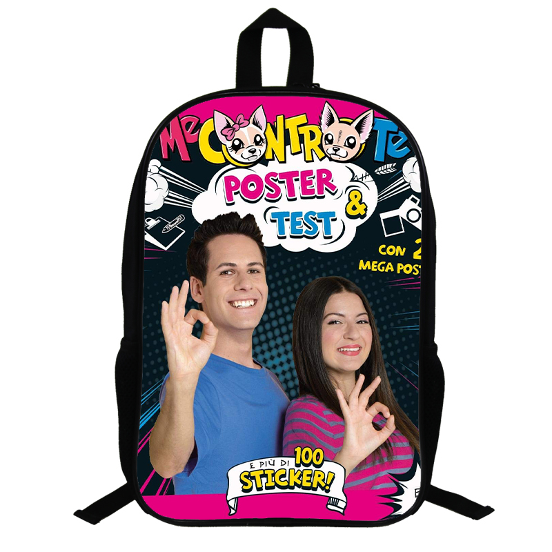 Me Contro Te Monster School Bag Ash Ketchum / Backpack School Bags For Girls Boys Boy Bag Children Books Bags 14.5 Inch