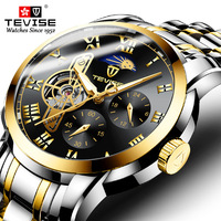 TEVISE Fashion Men Sport Automatic Watches Top Luxury Brand Tourbillon Stainless Steel Watch Men Mechanical Relogio Clock|Mechanical Watches| |  -