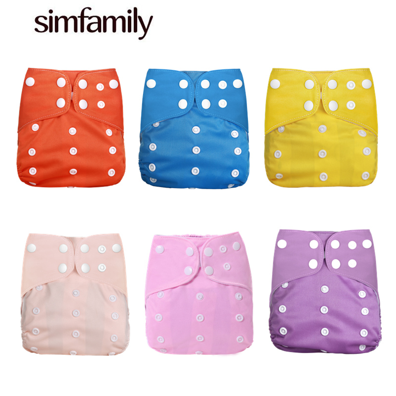 [simfamily]1PC 2019 New Reusable Waterproof Digital Printed Baby Cloth Diaper Adjustable Baby Nappies Fit For 3-15kg