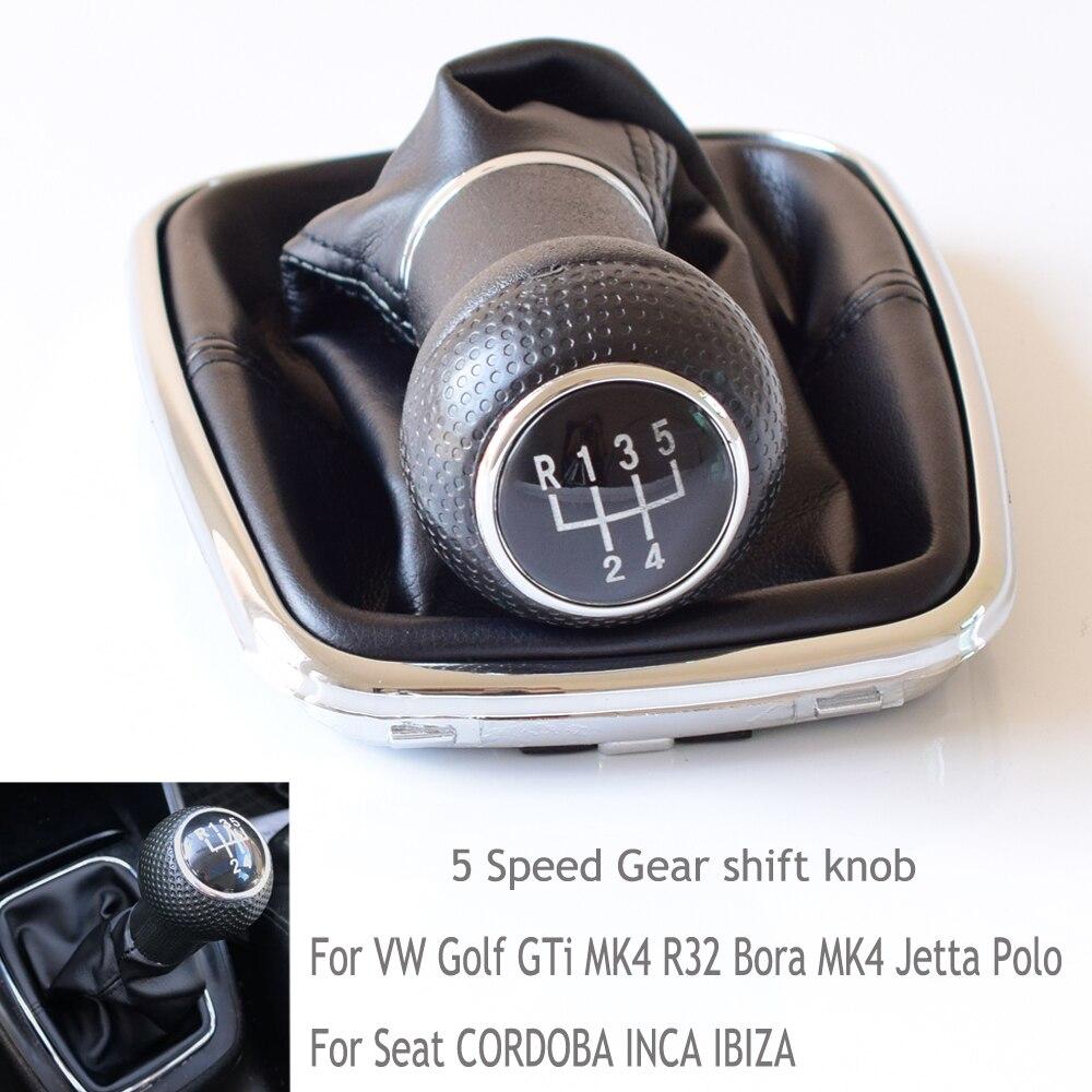 Для VW Golf GTi MK4 R32 Bora Jetta сиденье для Polo Seat CORDOBA INCA IBIZA ручная коробка передач с 5 6 Скорость рукоятка для рычага переключения передач гандбол крыш...