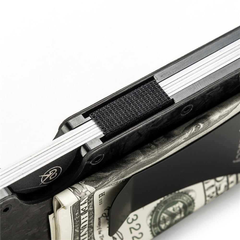 fino titular do cartão de crédito minimalista mini carteira alumínio metal