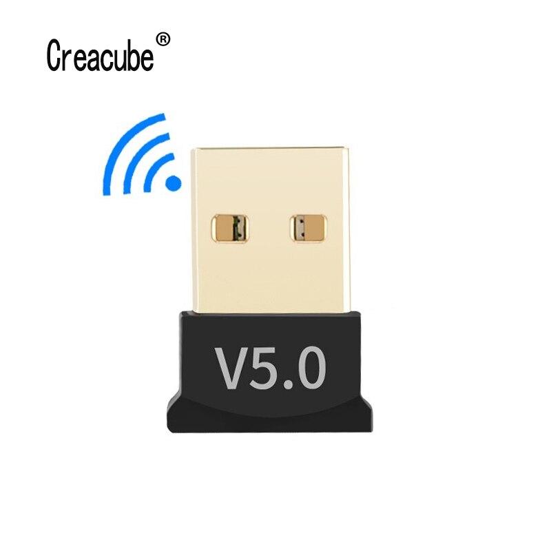 Creacube V5.0 Wireless USB Bluetooth 5.0 Adapter Bluetooth Dongle Music Receiver Adaptador Bluetooth Transmitter For PC