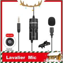 BOYA BY-M1 Pro mikrofon yaka mikrofonu stüdyo Mic Clip-on kondenser mikrofon Smartphone iPhone Android DSLR kamera ses