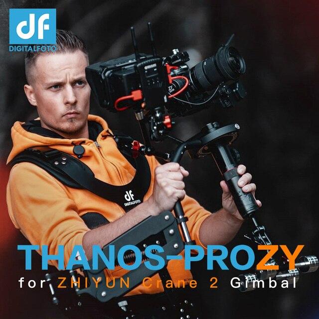 DF DIGITALFOTO THANOS PRO steadycam Gimbal Vest steadicam with Z Axis Spring Arm for DJI Ronin S Zhiyun Crane 2 MOZA air 2