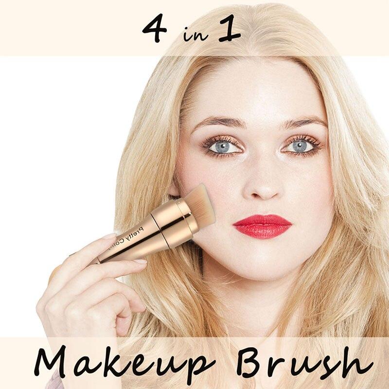 Brochas base ceja delineador de ojos rubor polvo cosmético corrector profesional 4 en 1 pinceles de maquillaje - 2