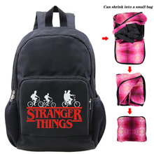 Kids School Backpack Bag Stranger Things Travel Backpack Bagpack Students Stranger Things Folding Bookbag Rugzak Bags Sac A Doc fragile things a