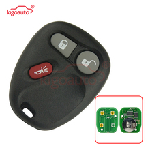 Kigoauto for Chevrolet  GMC car key fobKOBUT1BT KOBLEAR1XT 315Mhz 3 Buttons Keyless Entry Remote Key Fob 4 buttons auto keyless entry remote car key shell case fob for buick pontiac g5 g6 chevrolet rubber pad replacement car covers