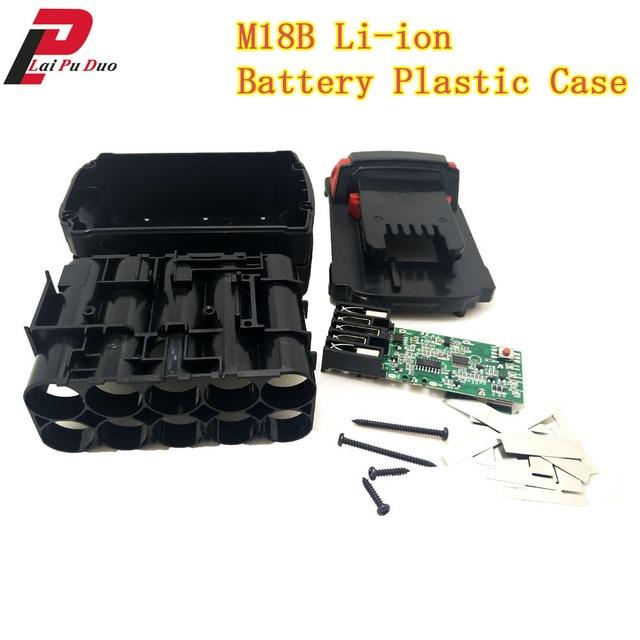 M18B بطارية ليثيوم أيون البلاستيك حالة شحن حماية لوحة دوائر كهربائية ل ميلووكي 18V M18 48 11 1815 3Ah 4Ah 5Ah لوحة دارات مطبوعة شل