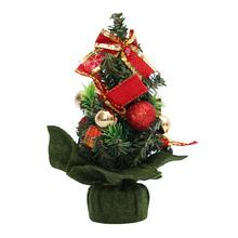 2017 Mini Artificial Christmas Tree Indoors Decorations Small Pine Tree Holiday New Year Festival Party Ormament Decorations(China)