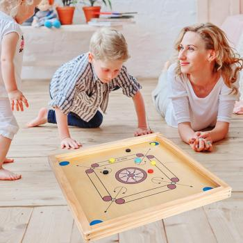 Carrom Board Game Board Round Burr-free Wood Board Two-player Puzzle Board Game Parent-child Interactive Toys Group Games 2020 game board djeco кроассимо
