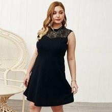 Doib черные платья большого размера с v образным вырезом кружевные
