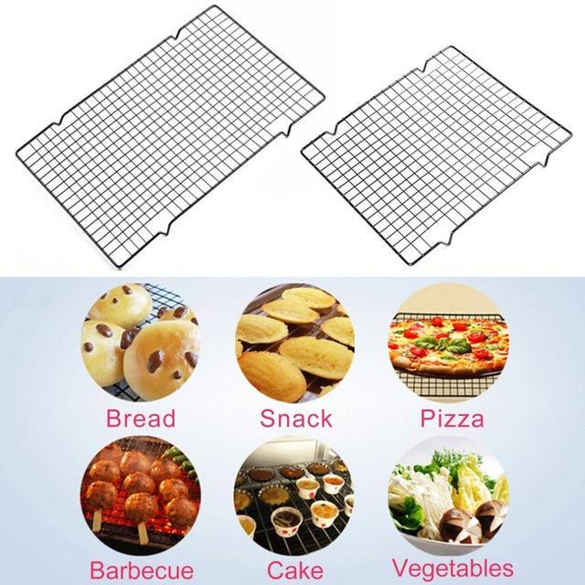Antiadhésif métal gâteau refroidissement grille grille grille Net Biscuits pain Muffins support de séchage cuisine plateau de cuisson outils