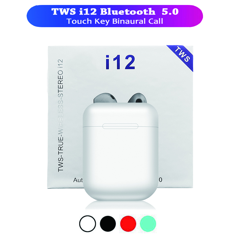 I12 <font><b>tws</b></font> Wireless <font><b>Bluetooth</b></font> Earphone Headset Potable Stereo Hifi <font><b>Bluetooth</b></font> <font><b>5.0</b></font> Touch control Air <font><b>i11</b></font> Earbuds PK i9s I7s <font><b>tws</b></font> image