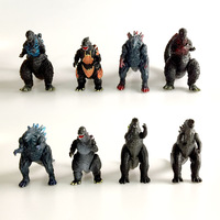 8pcs/set Dinosaur Models Gogira Gomora Planet Figure Doll Decoration PVC Action Figure Collectible gift