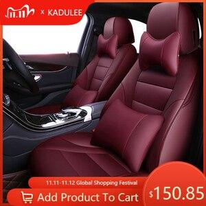 Image 1 - KADULEE car seat cover for Hyundai ix35 tucson solaris creta i30 accent elantra car accessories styling
