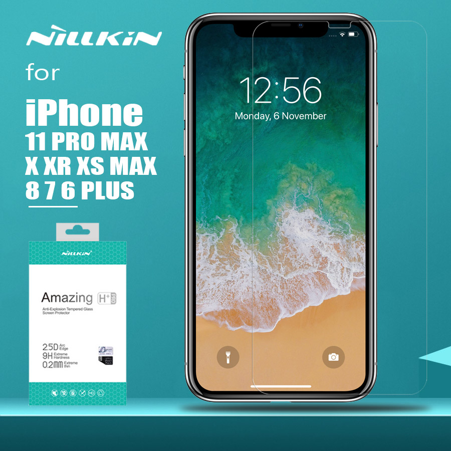 til iPhone 11 Pro Max XS MAX XR Nillkin H + Pro herdet glass skjermbeskytter for iPhone 11 Pro XR X XS Max 6 6S 7 8 Plus Glass